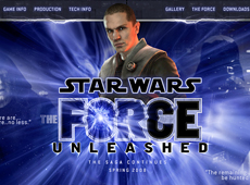 "Lucas Arts: Star Wars ""The Force Unleashed"" Website (2010)"